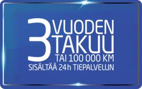 Dacia takuu – 3 vuotta tai 100 000 km